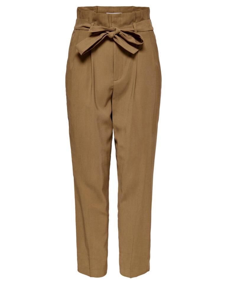 Pantaloni a sigaretta Only SURI-AINA HW PB PANTS TLR Marrone - Foto 1