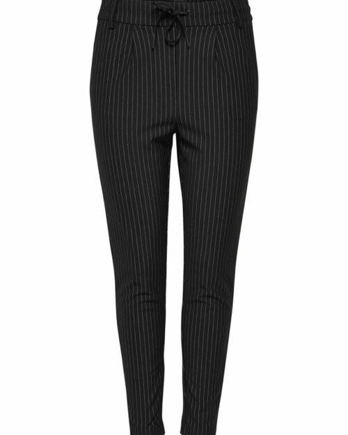 Pantaloni Only POPTRASH CLASSIC PINSTRIPE PANT Nero – 14591
