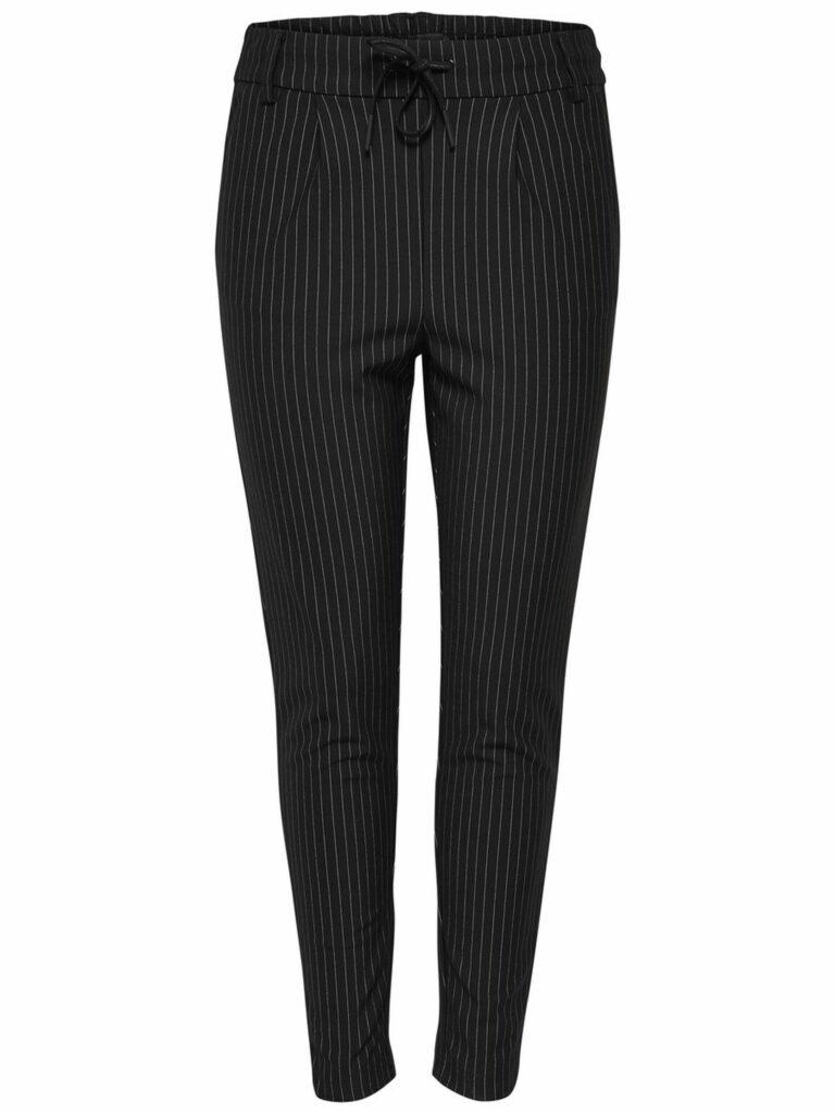 Pantaloni Only POPTRASH CLASSIC PINSTRIPE PANT Nero - Foto 1
