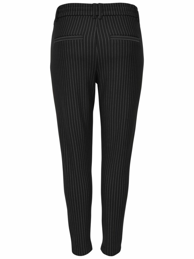 Pantaloni Only POPTRASH CLASSIC PINSTRIPE PANT Nero - Foto 2