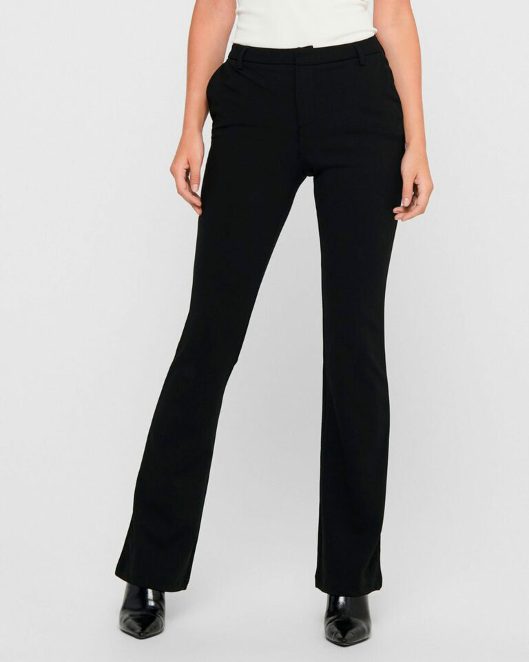 Pantaloni bootcut Only ROCKY MID FLARED PANT TLR NOOS Nero - Foto 1