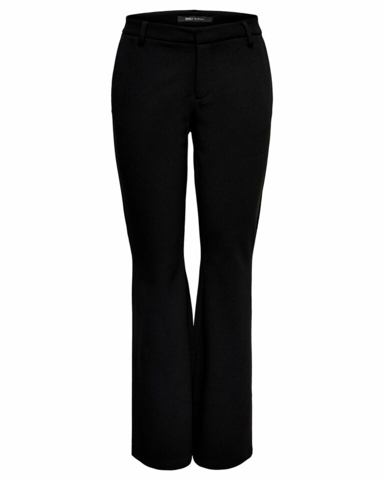 Pantaloni bootcut Only ROCKY MID FLARED PANT TLR NOOS Nero - Foto 4