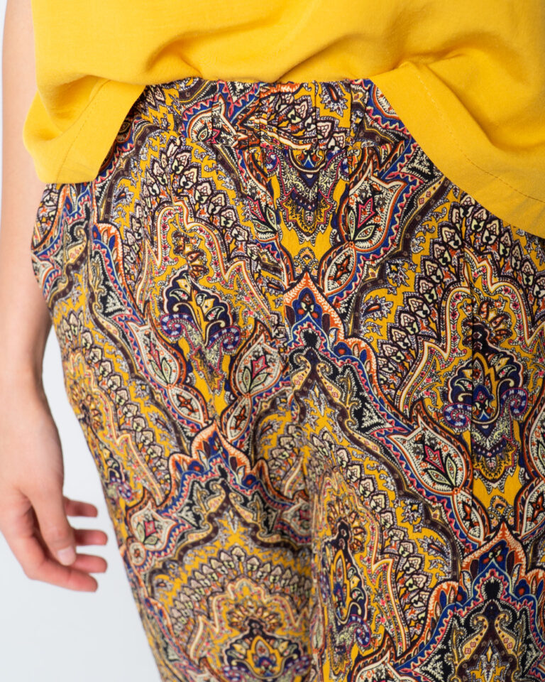 Pantaloni a palazzo Only VIDE WIDE PANT WVN Oro - Foto 3