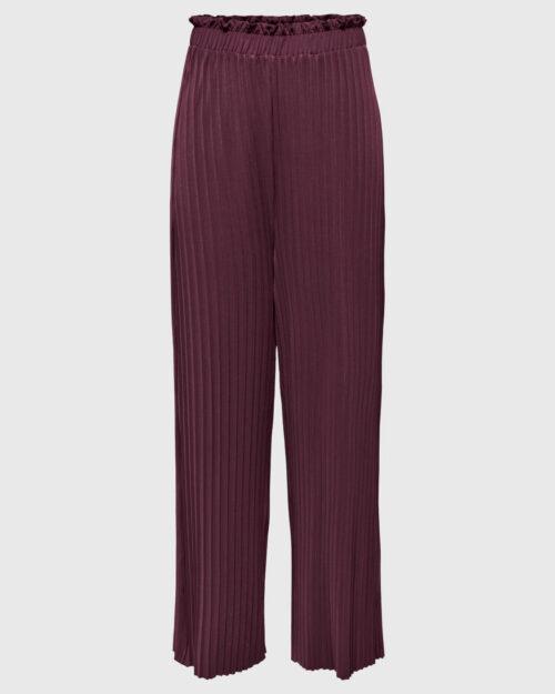 Pantaloni a palazzo Only ELMA PLISSE PANT JRS Prugna - Foto 1
