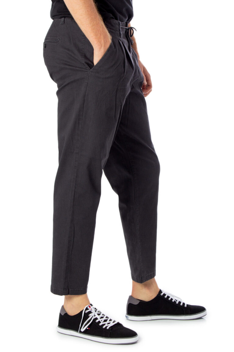 Pantaloni con cavallo basso Only & Sons LEO AOP WASHED PK 3724 Grigio - Foto 4