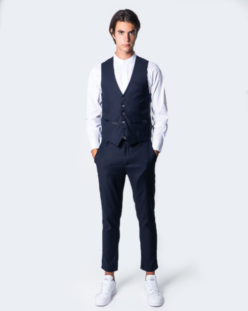 Pantaloni slim Over-D CHINO ESSENTIAL Blu - Foto 4