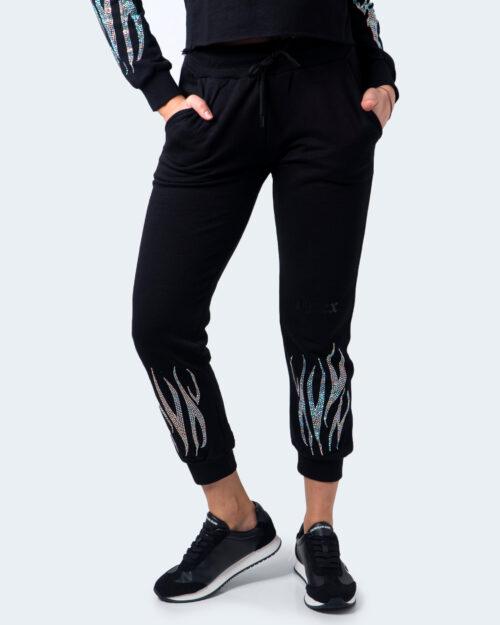 Pantaloni sportivi Pyrex Logo piccolo strass Nero – 60048