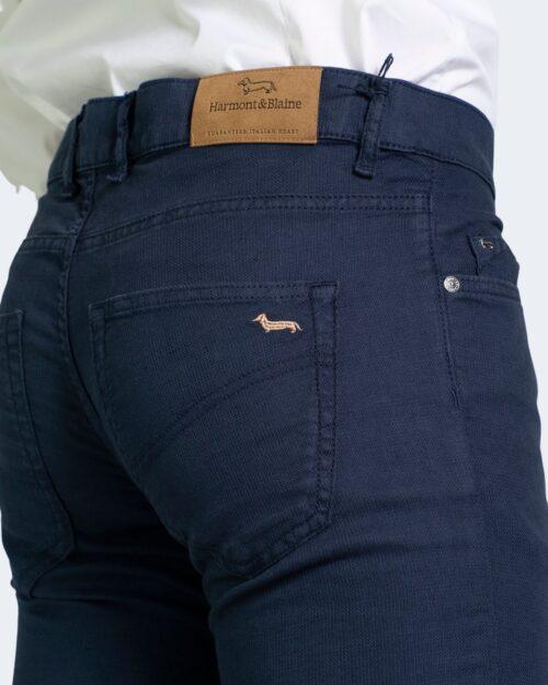 Pantaloni Harmont&Blaine BASICO NARROW Blue scuro - Foto 3