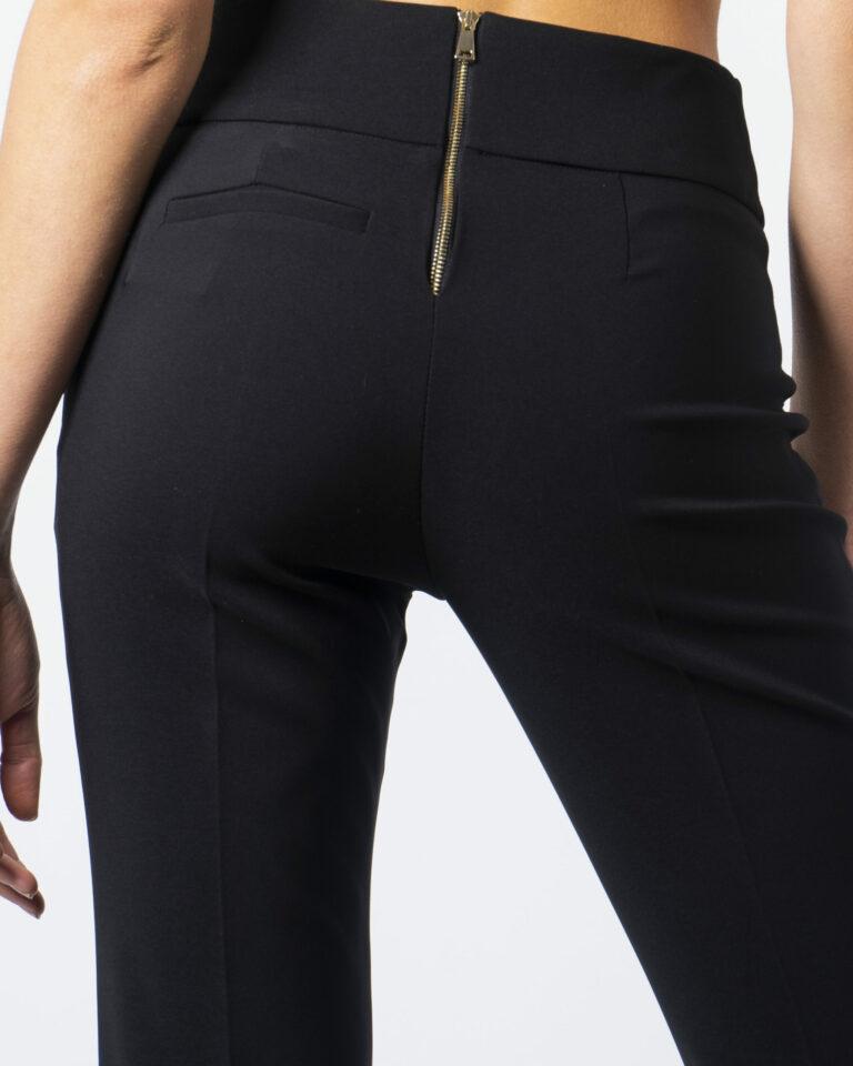 Pantaloni bootcut Sandro Ferrone CERNIERA RETRO Nero - Foto 4