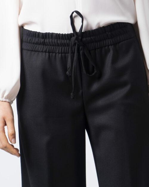 Pantaloni a palazzo Sandro Ferrone MANFREDI Nero - Foto 4