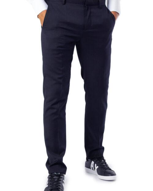 Pantaloni slim Selected Mylobill Navy Trouser B Noos Blu – 36670