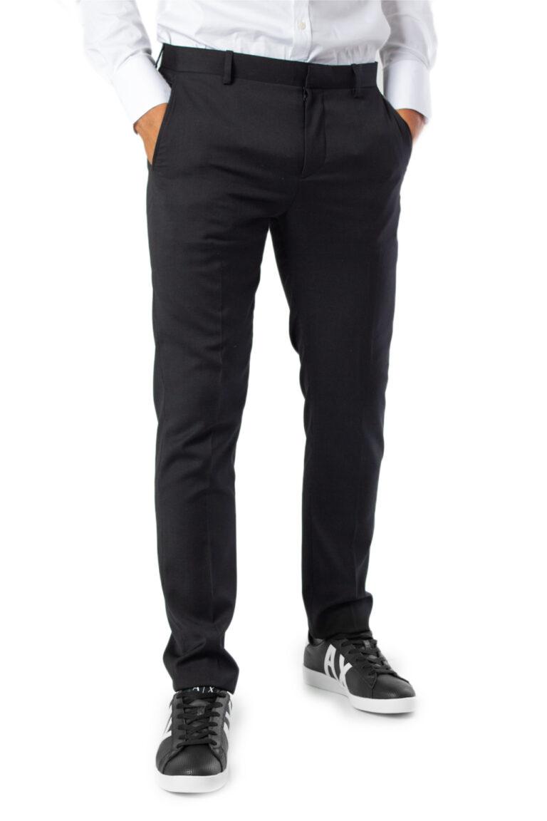 Pantaloni slim Selected Mylobill Black Trs B Noos Nero - Foto 1