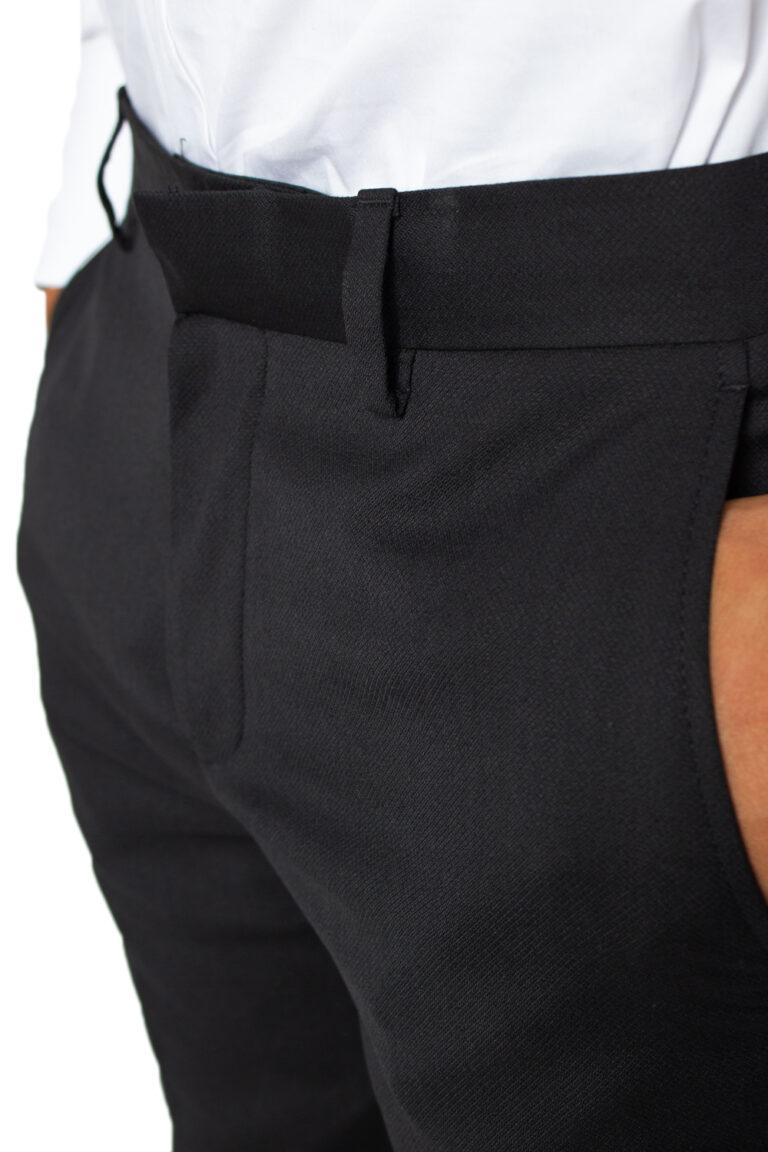 Pantaloni slim Selected Mylobill Black Trs B Noos Nero - Foto 3