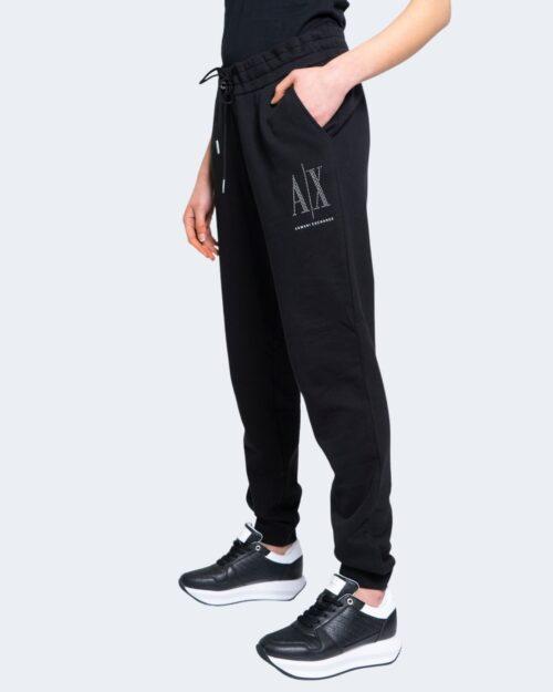 Pantaloni sportivi Armani Exchange LOGO BORCHIE PICCOLO Nero – 65157