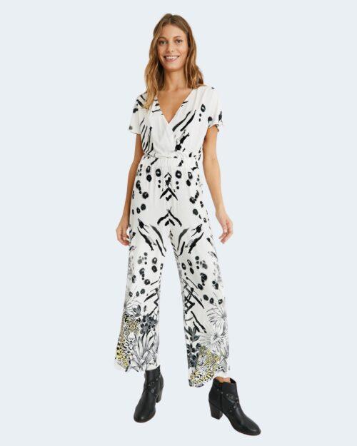 Salopette pantaloni Desigual MIKONOS Bianco – 65438