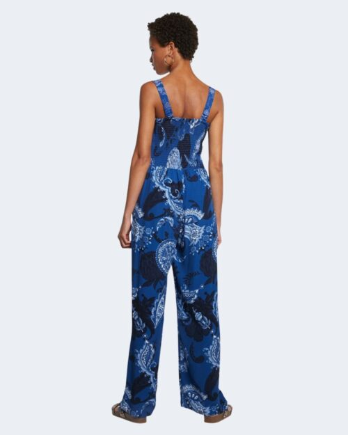 Salopette pantaloni Desigual PATRICIA Blu - Foto 4