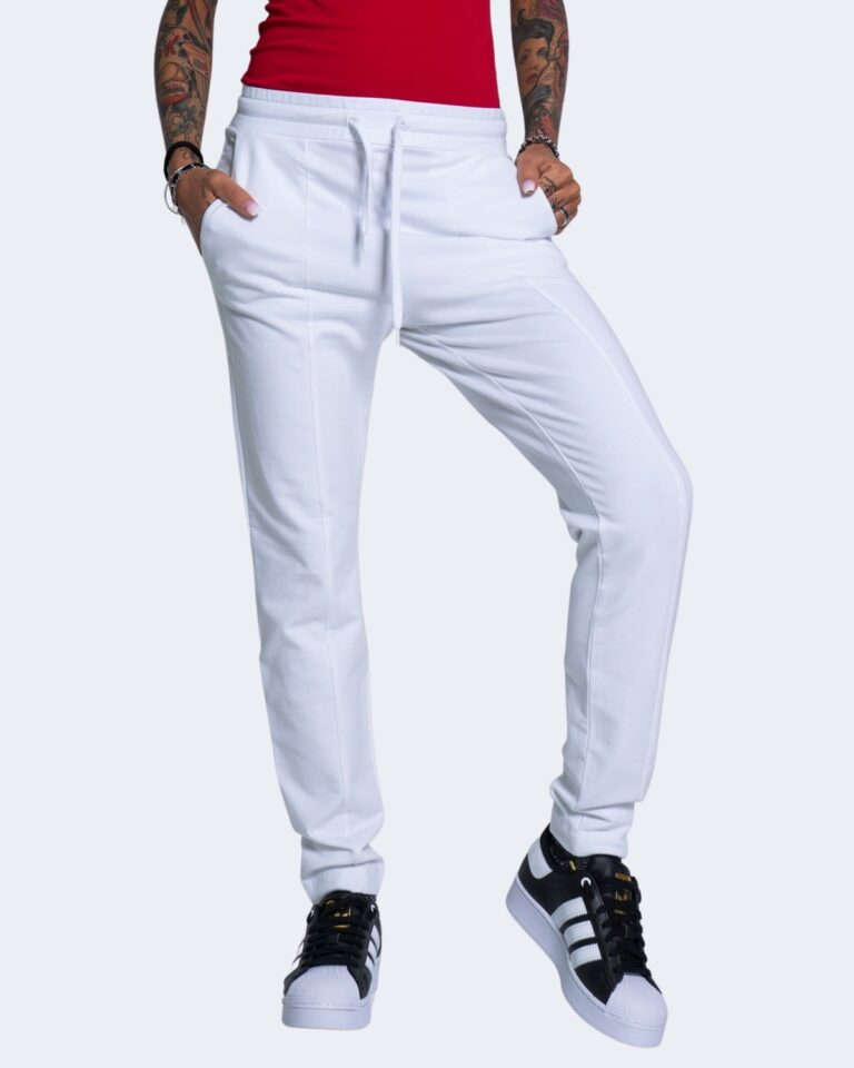 Pantaloni sportivi Love Moschino CORE BLACK AND WHITE Bianco - Foto 1