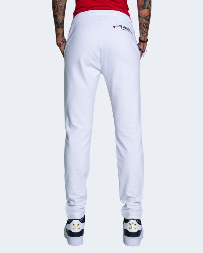 Pantaloni sportivi Love Moschino CORE BLACK AND WHITE Bianco - Foto 3