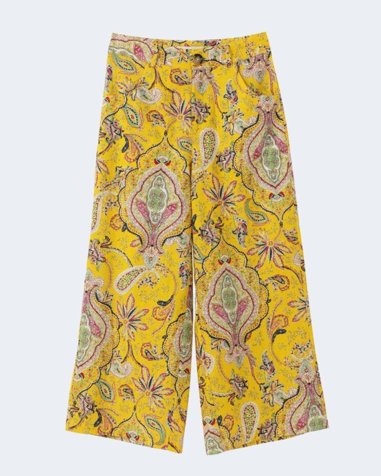 Pantaloni a palazzo Desigual LUCAS Giallo - Foto 2