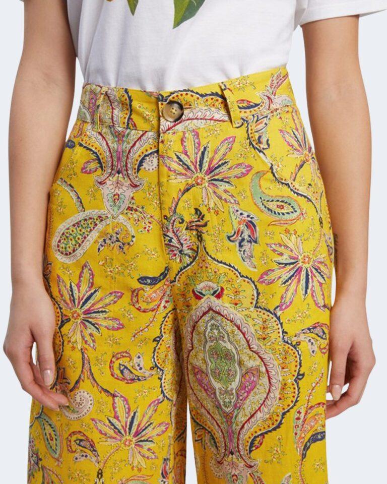 Pantaloni a palazzo Desigual LUCAS Giallo - Foto 3