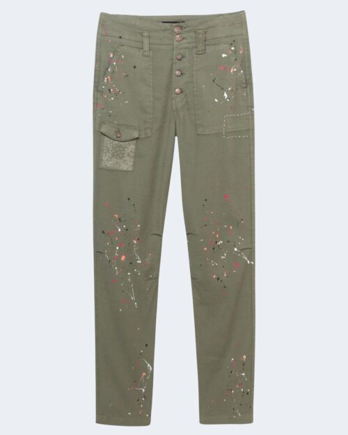 Pantaloni super skinny e skinny Desigual SANDY Verde Oliva – 65615