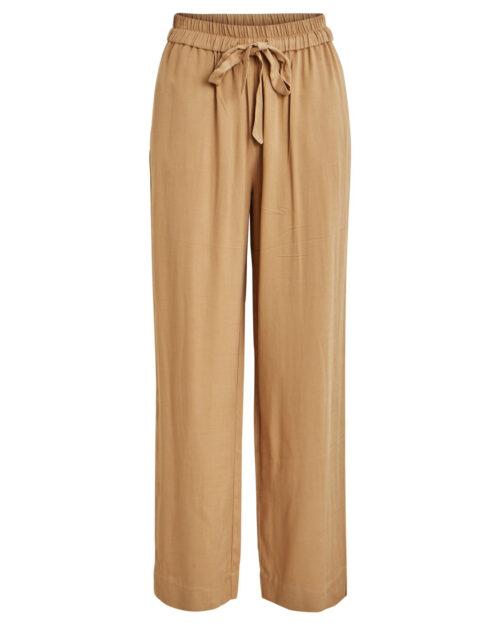 Pantaloni a palazzo Vila Clothes Lanis HWRX 7/8 Beige – 45412