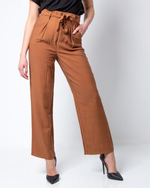Pantaloni a palazzo Vila Clothes MULANA HWRX 7/8 PANTS/DES Marrone – 42308