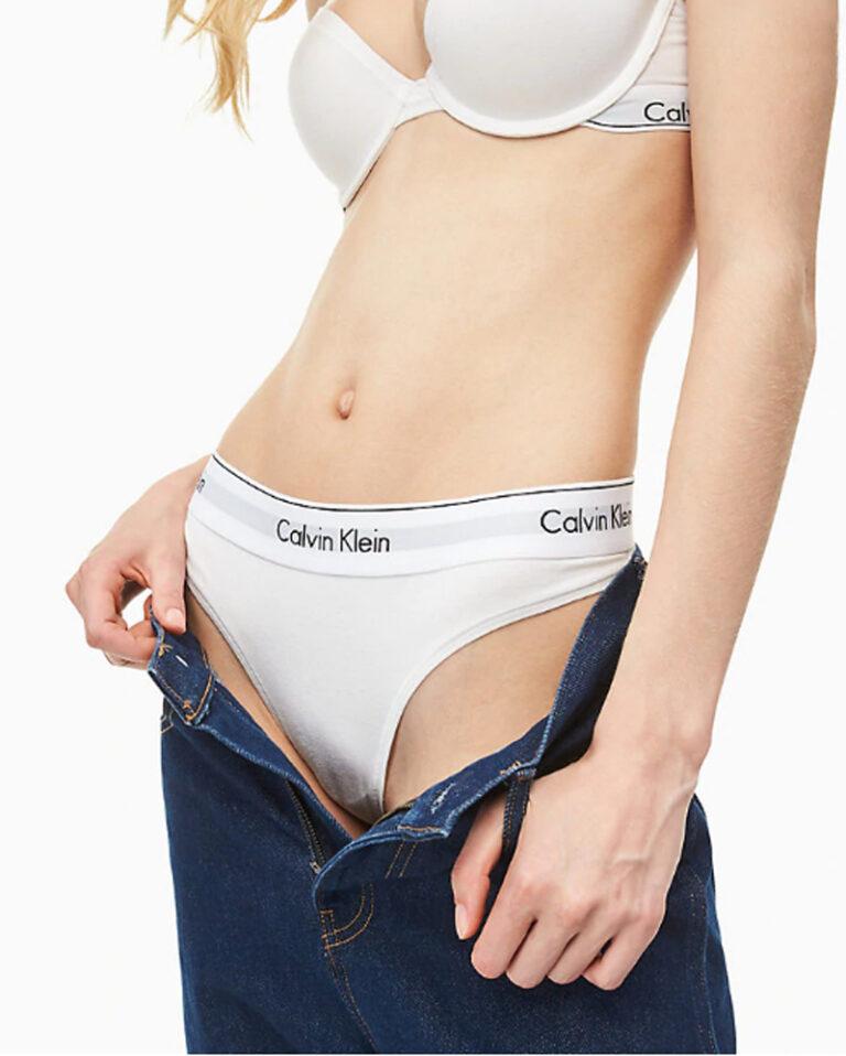 Calvin Klein Underwear THONG Bianco - Foto 3