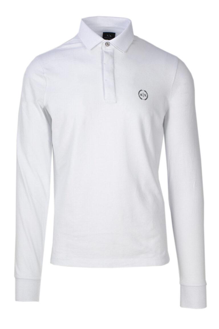 Polo manica lunga Armani Exchange - Bianco - Foto 1