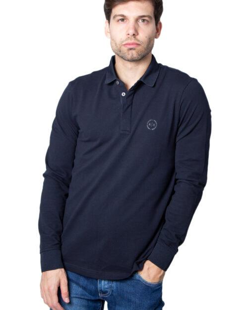 Polo manica lunga Armani Exchange – Blu – 21607