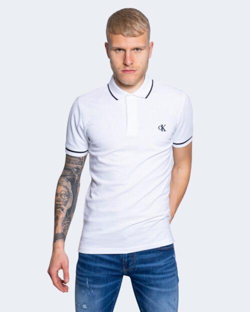 Polo manica corta Calvin Klein TIPPING SLIM POLO Bianco – 64608