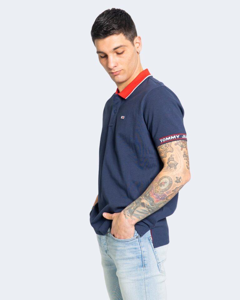 Polo manica corta Tommy Hilfiger Jeans DETAIL RIB JAQUA Blu - Foto 1