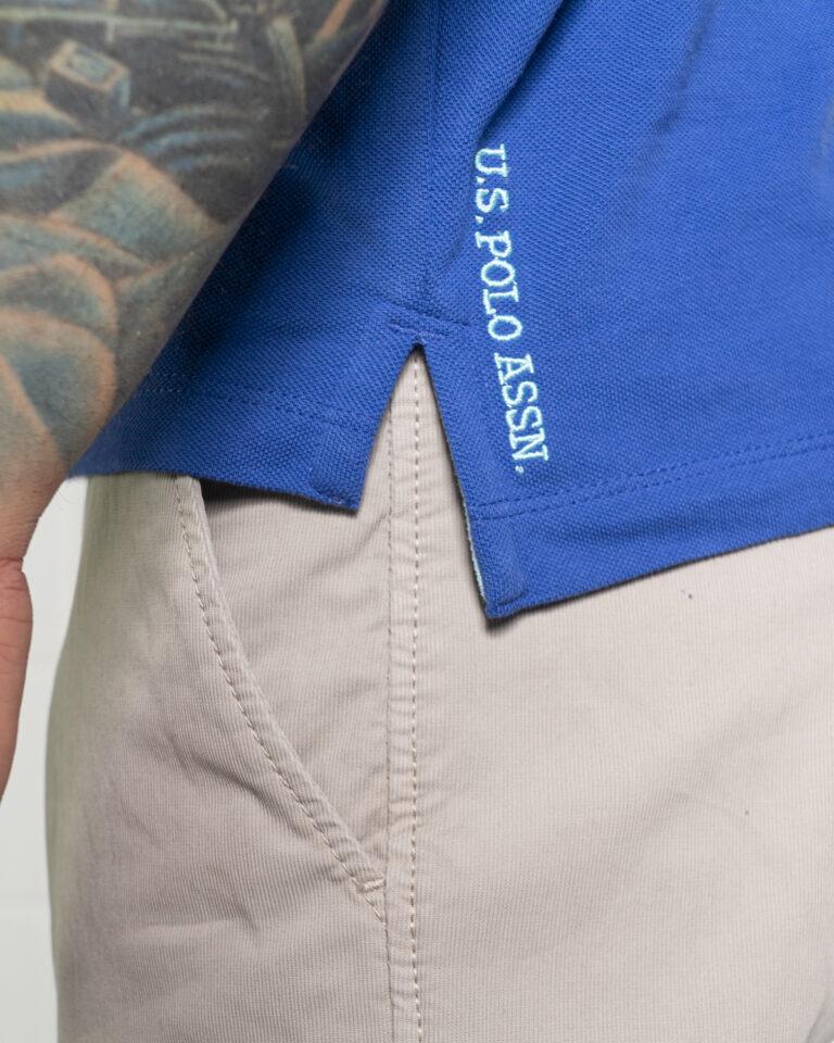 Polo manica corta U.S. Polo Assn. ISTITUTIONAL Blu marine - Foto 4