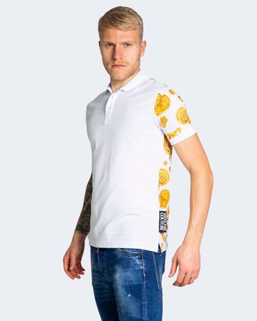 Polo manica corta Versace Jeans Couture PRINT GIOIELLI Bianco – 69340