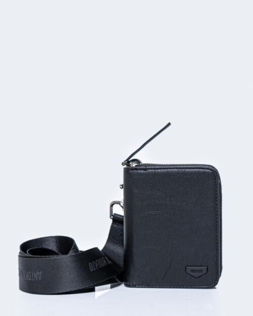 Portafoglio senza portamonete Antony Morato Zip e tracolla Nero – 53809