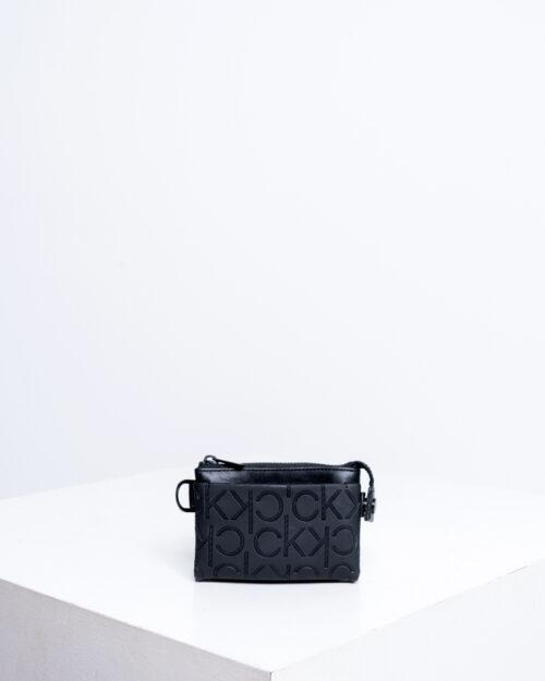 Portafoglio senza portamonete Calvin Klein MONO BLEND ZIPPED POUCH Nero - Foto 1