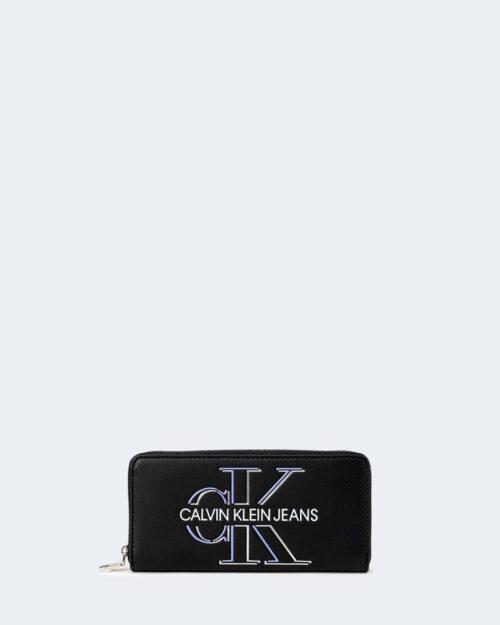 Portafoglio grande Calvin Klein ZIP AROUND GLOW Nero – 64783