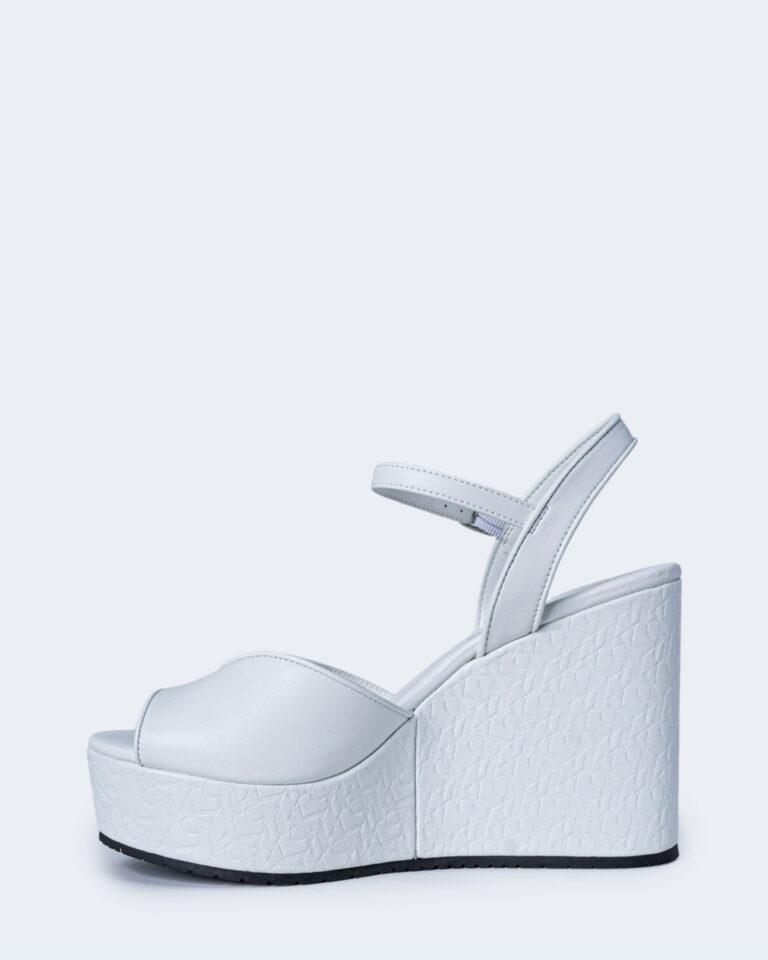 Scarpe con tacco Calvin Klein Jeans WEDGE SANDAL Bianco - Foto 2