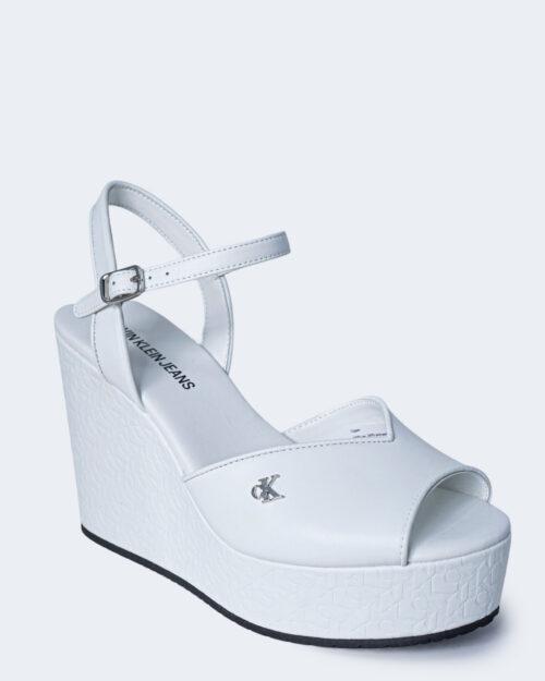 Scarpe con tacco Calvin Klein Jeans WEDGE SANDAL Bianco - Foto 3