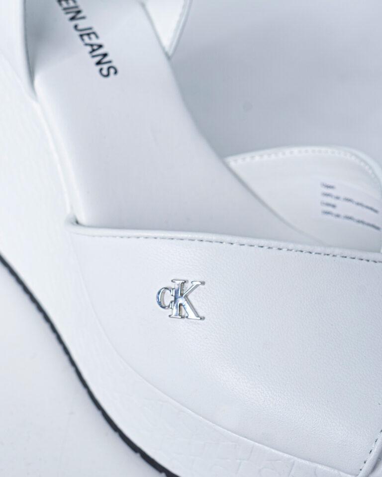 Scarpe con tacco Calvin Klein Jeans WEDGE SANDAL Bianco - Foto 4
