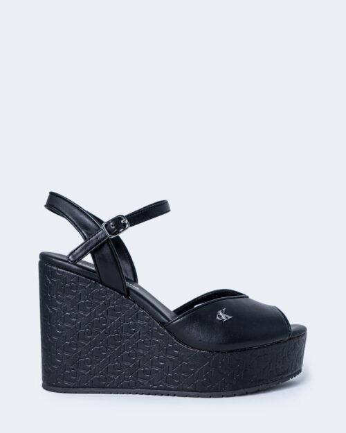 Scarpe con tacco Calvin Klein Jeans WEDGE SANDAL Nero - Foto 1