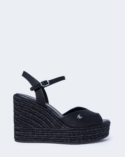 Scarpe con tacco Calvin Klein WEDGE SANDAL Nero – 64724