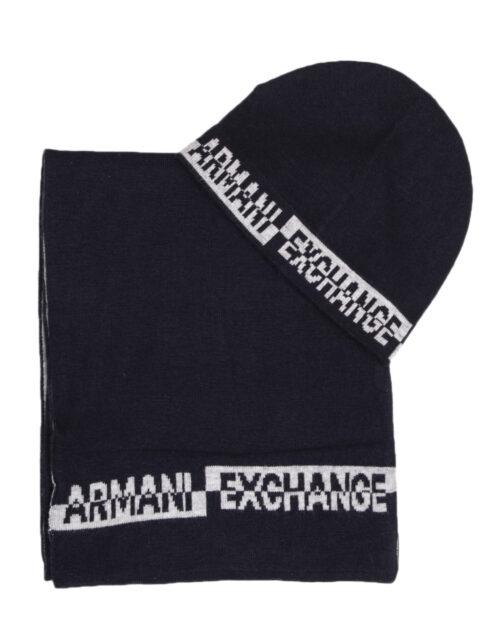 Sciarpa Armani Exchange SET SCIARPA CAPPELLO Blu – 21336