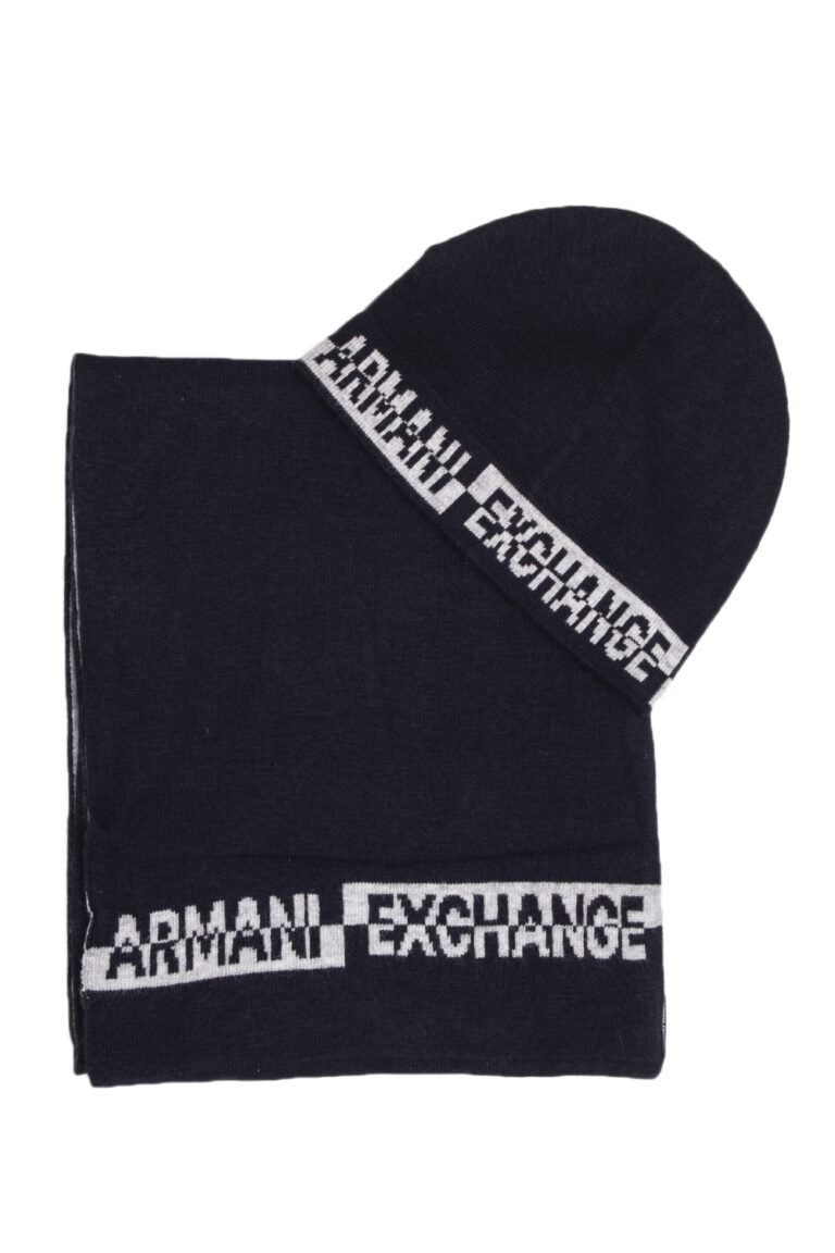 Sciarpa Armani Exchange SET SCIARPA CAPPELLO Blu - Foto 1