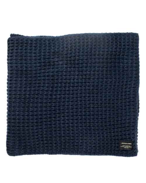 Sciarpa Jack Jones WAFFLE KNIT TUBE NOOS Blue scuro – 34437