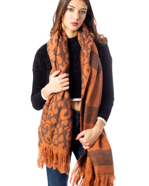 Sciarpa Only MILA DOUBLE FACE WOVEN SCARF Marrone – 34495