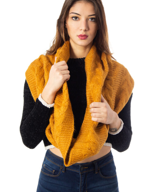 Sciarpa Only KAREN CABLE KNIT TUBE Ocra – 34497