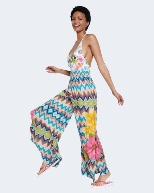 Pantaloni a palazzo Desigual HAWAI Celeste – 65797