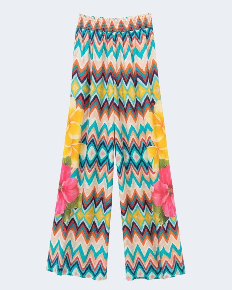 Pantaloni a palazzo Desigual HAWAI Celeste - Foto 2