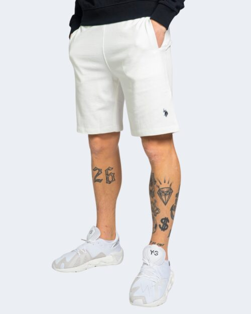 Shorts U.s. Polo Assn. TRICOLOR FLEEC Bianco – 67806